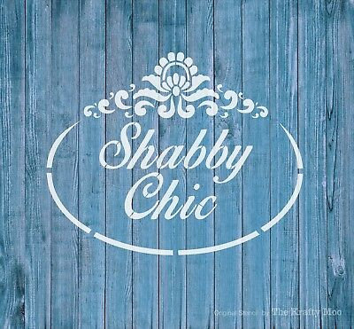 Stencil Mylar Reusable Shabby Chic Vintage Furniture Wall Art Airbrush
