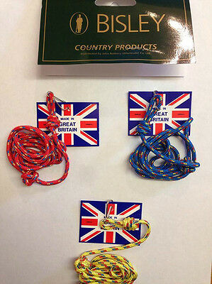 Bisley 3mm lanyard multi coloured - dog training whistle call yellow red blue