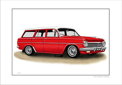 Holden  Eh 179  Station Wagon  Limited Edition Car Print Automotive Artwork