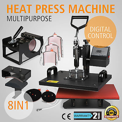 8in1 T-Shirt Heat Press Machine Latte Mug  Cup Sublimation Printing