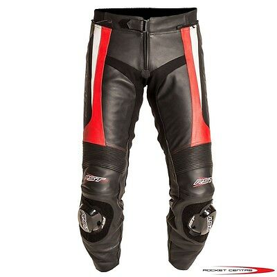 Rst Blade Leather Motorcycle Jean Pants Slider Track Sports Slider Red Protect