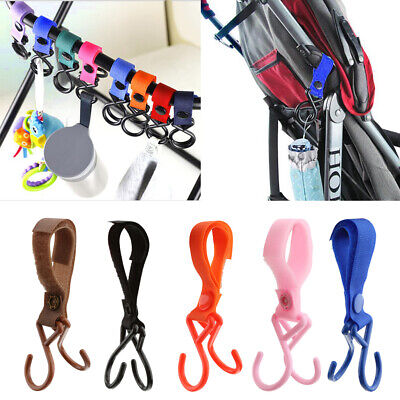 Baby Pram Pushchair Buggy Accessory Handle Bar Bag Hook Clip Bottole Hanger