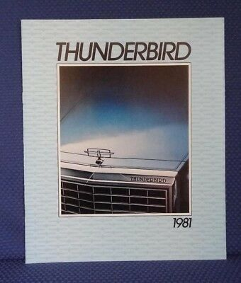 1981 Ford THUNDERBIRD Only Color Sales Catalog Brochure - MINT New Old Stock