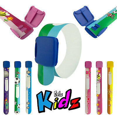 SIGEL KIDS ID BAND Childs Safety Re-useable Wristband Holiday Festival Autism