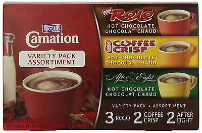 Carnation Hot Chocolate Variety Pack Rolo Coffee Crisp After Eight 7-Count Bo...