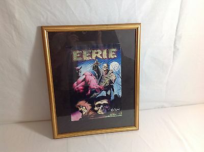 """Vintage Collectible Undead """"Eerie"""" Framed Painting By: Nelson"""