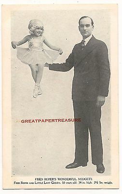 Fred Roper's Midgets. Little Lady Godiva. Printed Postcard by Haycock