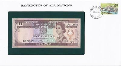 Banknotes of All Nations, Fiji 1 Dollar, 1983, P73a , Uncirculated