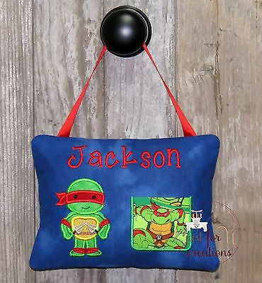 Boy Personalized Tooth Fairy Pillow Inspired Ninja Turtle Red Character