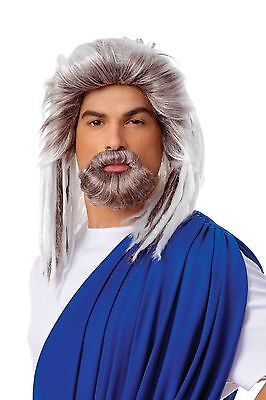 Costume Culture Men's King Of The Sea Wig and Beard Set Deluxe