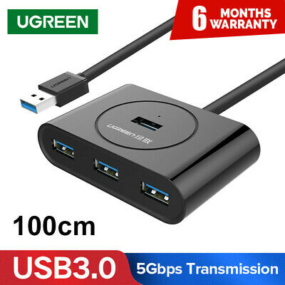 UGREEN USB 3.0 HUB 4 Ports USB Hub Splitter For Macbook Laptop PC Computer HDD