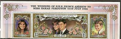 Belize 1986 Wedding Of Prince Andrew To Miss Sahar Mnh