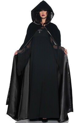 "63"" Deluxe Velvet & Satin Cape Adult Costume Accessory (Black)"