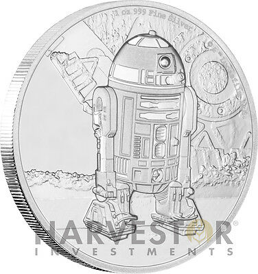 Star Wars Classics - R2-D2 - 1 Oz. Silver Coin - Ogp Coa - Fourth In Series