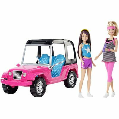 Barbie and Jeep with friendly Skipper doll - 2 dolls and a Jeep - Brand new