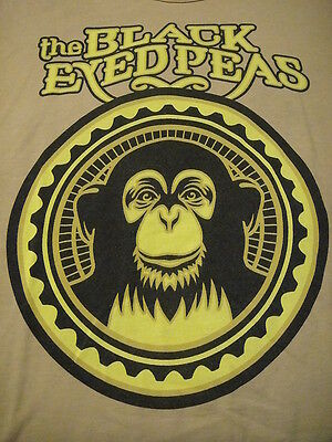 Black Eyed Peas VINTAGE Monkey Business Tour 2006 Concert T Shirt Small Tan