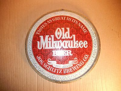 Old Milwaukee 1971 Beer Sign Glass Cover