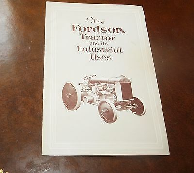 The Fordson Tractor and its Industrial Uses Booklet 1975 Reprint