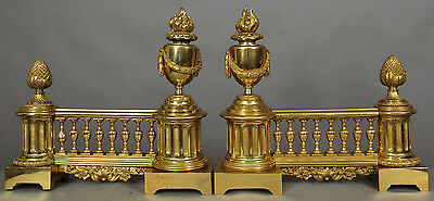 Pair of Gilt Bronze Fire Ends