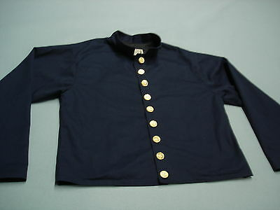 Classic Old West Styles Civil War Reenactment Military Jacket Coat Linen LARGE
