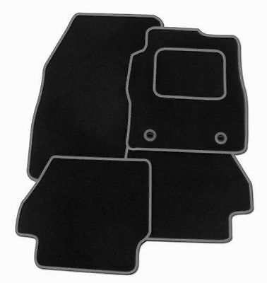 Ford Focus Mk3 2011-2014 TAILORED CAR FLOOR MATS BLACK WITH GREY TRIM
