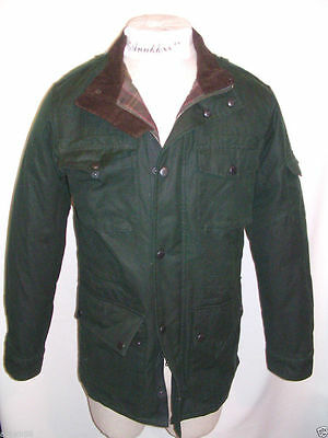 NWT Eddie Bauer Mens Waxed Cotton Field Jacket Deep Forest Size S