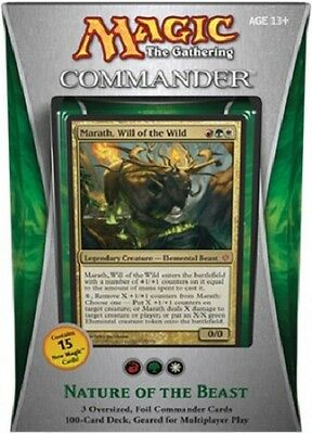 MTG Magic - NATURE OF THE BEAST - Commander 2013 Deck English - EDH - New Sealed