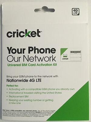 Cricket Wireless Complete Starter kit  Nano SIM Card with Standard & Micro Adopt