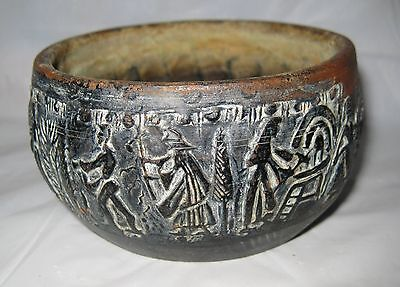 Ancient Grecian Megarian Quality Reproduction Pottery Bowl