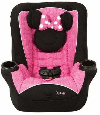 Minnie Mouse Car Seat Pink Baby Toddler Travel Convertible Sitting Cup Holders