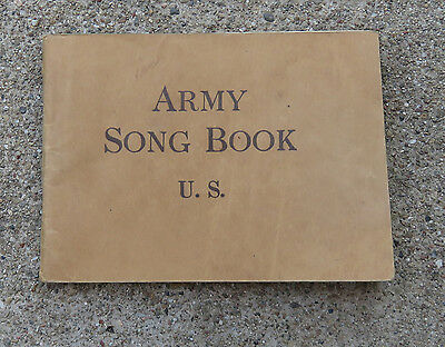 Original WW1 1918 Army Song Booklet