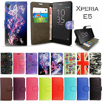 Luxury Leather Wallet Flip Case Cover For Sony Xperia Experia E5 Phone Model