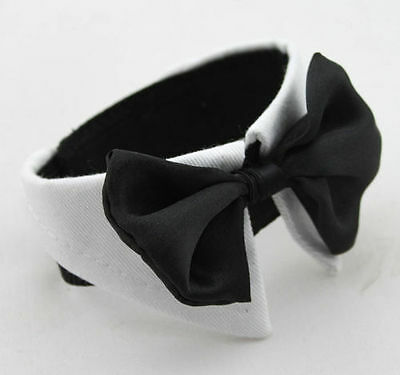 Lovely Pet Dog Cat Bow Tie Collar Adjustable Dress Necktie Wedding Accessories