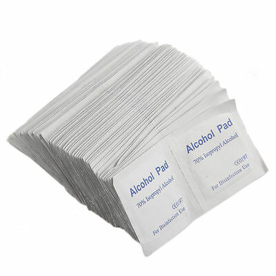 Alcohol Wipe Pad Medical Swab Sachet Antibacterial Tool Cleanser 100PCS AA