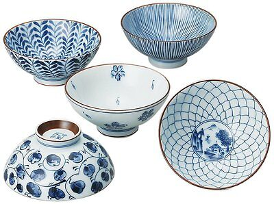 Saikai Pottery Traiditional Japanese Rice Bowls (5 bowls set) 31623 from Japan