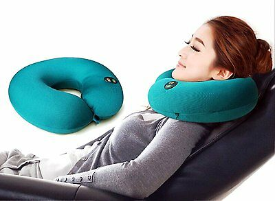 Massage Pillow Soft & Comfort With Double Button(on/off) Vibrating Neck Pillow