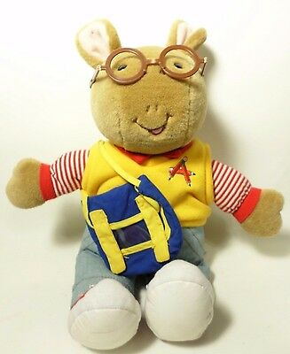Arthur Plush Doll - PBS Kids Eden Toys 1998 13 Inches With Bag Stuffed Animals