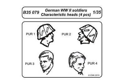 CMK B35079 1/35 German WWII soldiers Character heads 4 pcs