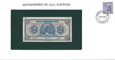 Banknotes of All Nations, Haiti 2 Gourdes, 1979, P231, Uncirculated