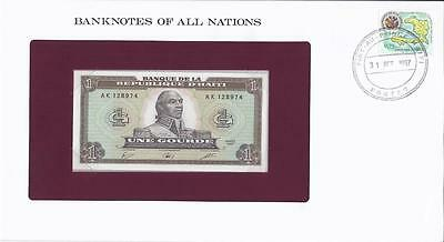 Banknotes of All Nations, Haiti 1 Gourde, 1987, P245, Uncirculated