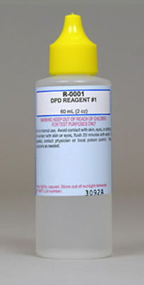 NEW Taylor R-0001 Swimming Pool Spa Test Kit DPD Reagent #1 2 Oz 60 Ml Bottle