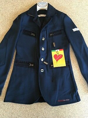 Animo Boys Age 8 Show Jacket Brand New Navy