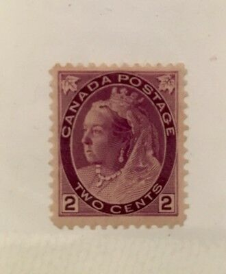 Canada Scott 76 Queen Victoria Two Cent-Mint