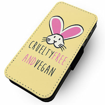 Cruelty Free & Vegan | Faux Leather Flip Phone Cover Case | Green Veg Eco Animal