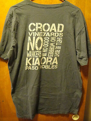 "Groad Vineyards Paso Robles CA T Shirt XL ""No Worries"" ""Kia Ora- Be Well"""