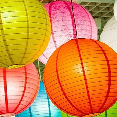 "Multicolor Chinese paper Lantern Wedding Party Decoration 8"" 14"" 18""- 6 pack"