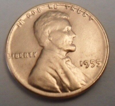 1955 P Lincoln Wheat Cent / Penny Coin  **FREE SHIPPING**