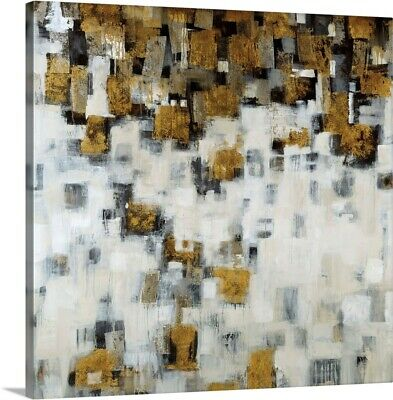 Premium Thick-Wrap Canvas Wall Art entitled City Nights, Gold