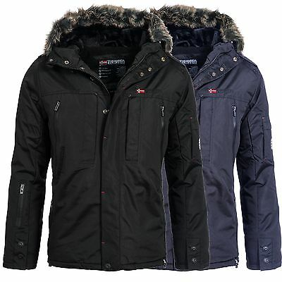 geographical norway chamonix herren winter jacke parka mit fell eur 99 99 picclick de. Black Bedroom Furniture Sets. Home Design Ideas