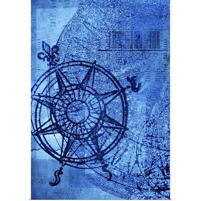 Poster Print Wall Art entitled Antique compass rose